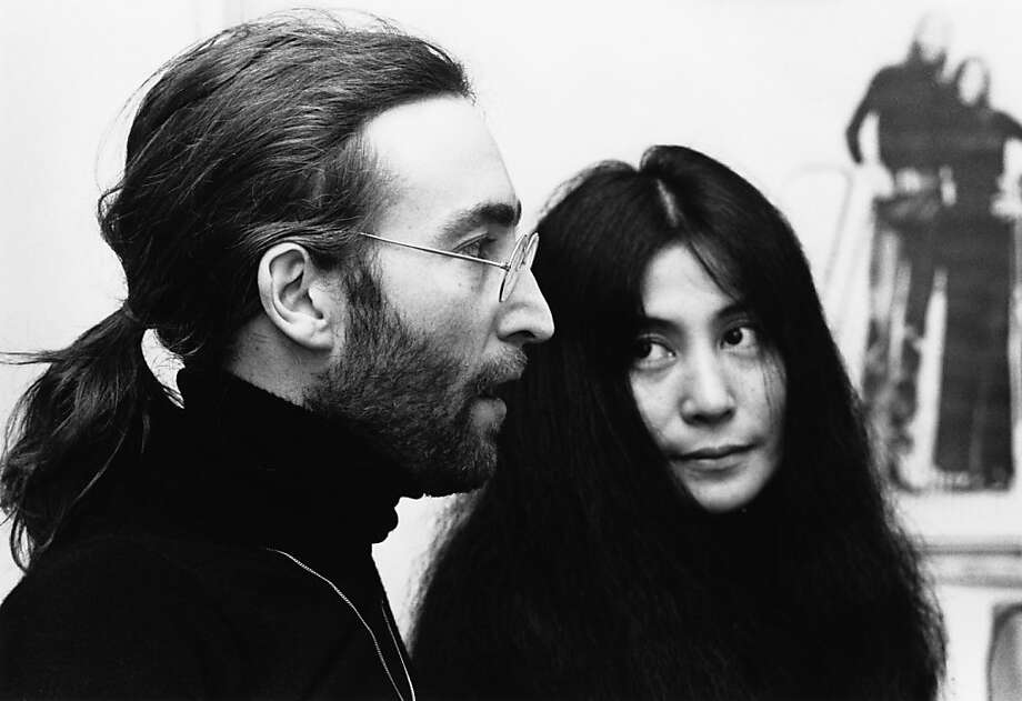 1969: John Lennon of The Beatles, posed with Yoko Ono. (Photo by Tom Hanley/Redferns) Photo: Tom Hanley