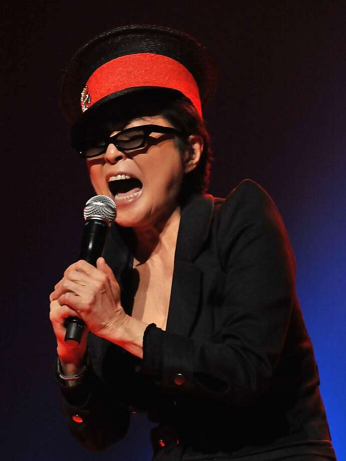 "Musician Yoko Ono performs with ""We Are Plastic Ono Band"" at the Orpheum Theatre on October 2, 2010 in Los Angeles, California.  (Photo by Lester Cohen/WireImage) Photo: Lester Cohen, WireImage"