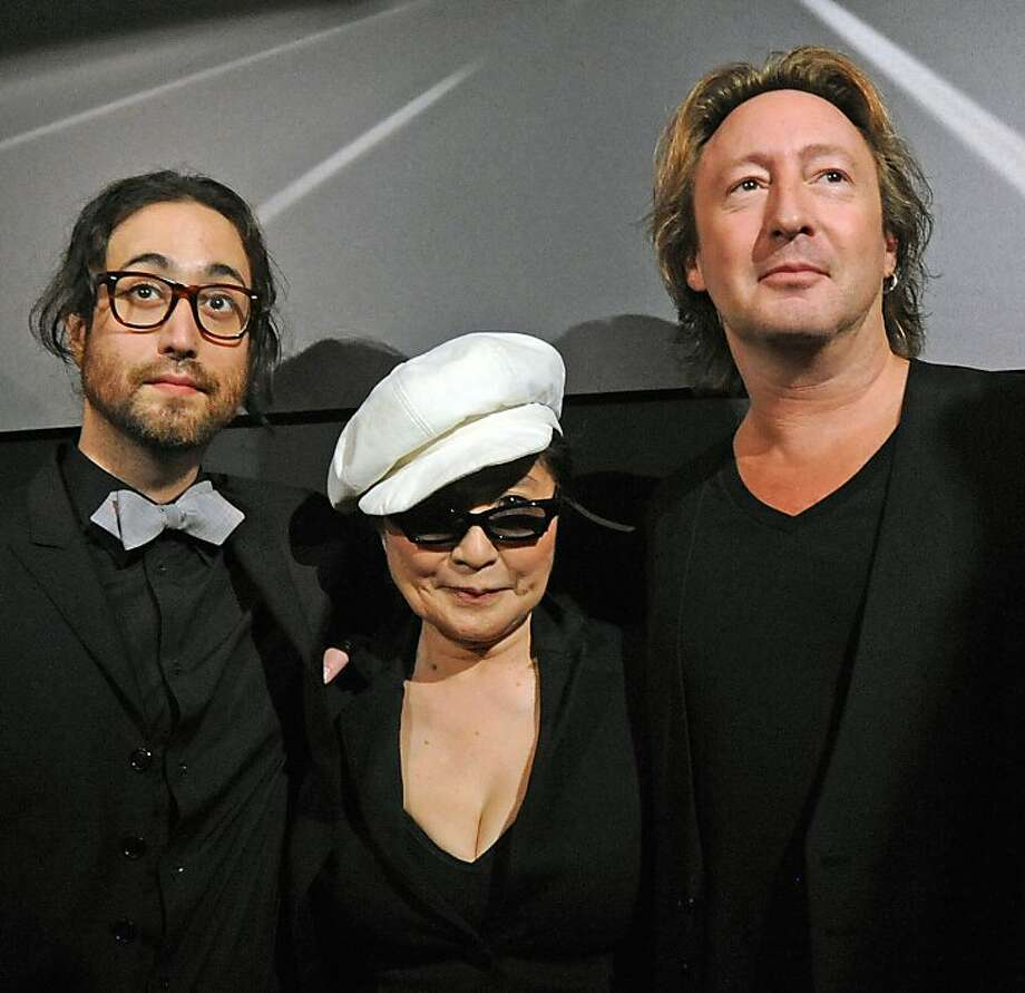 "Sean Lennon, Yoko Ono and Julian Lennon attends the ""Timeless"" photography exhibition opening party at the Morrison Hotel Gallery on September 16, 2010 in New York City. Photo: Bobby Bank"