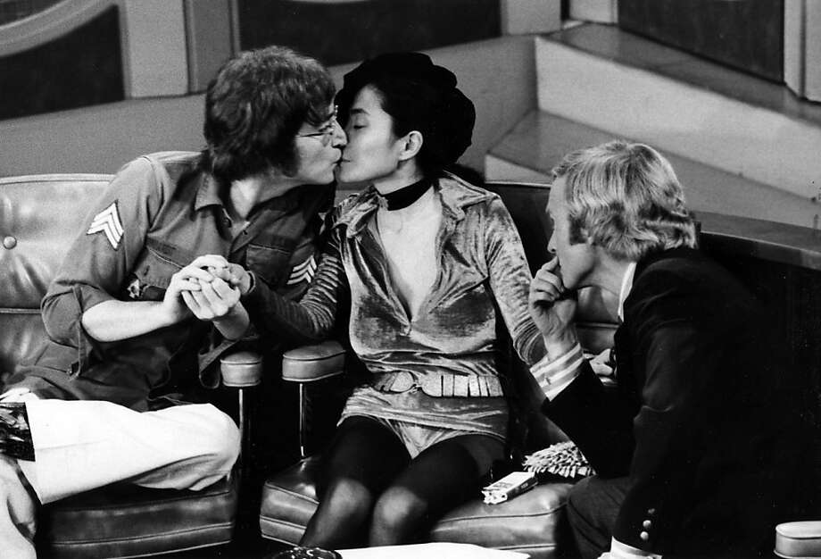 John Lennon and Yoko Ono chatted with host Dick Cavett in 1971.  (Photo by Ann Limongello/ABC via Getty Images) Photo: Ann Limongello, ABC