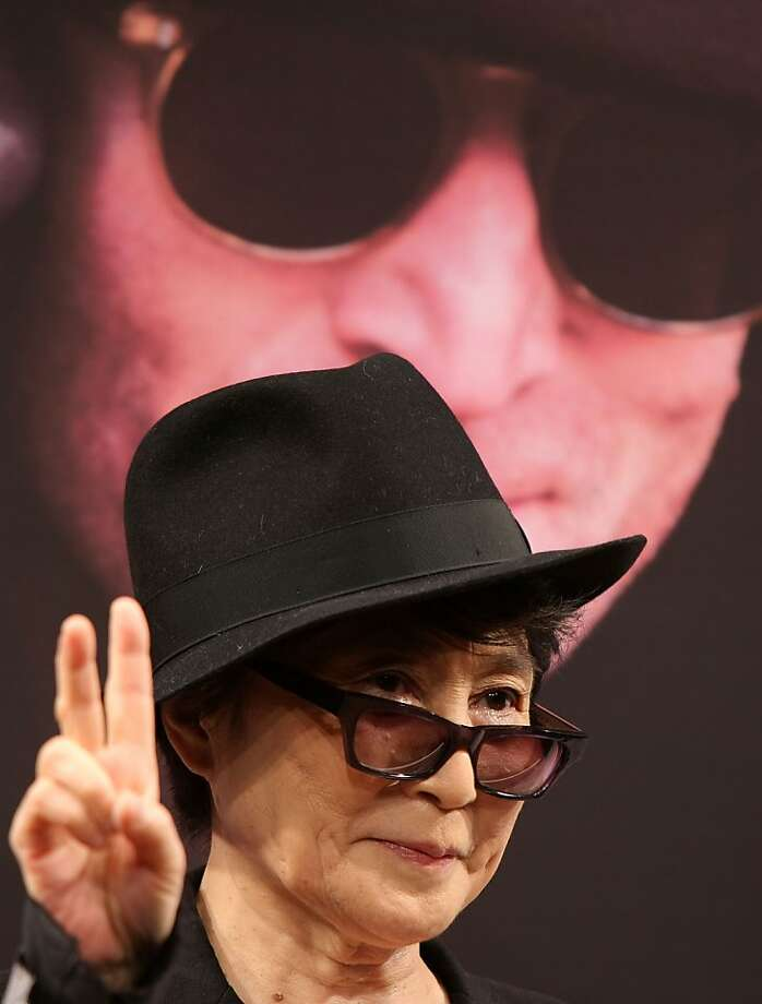 "Artist Yoko Ono attends the ""Dream Power John Lennon Super Live"" press conference at Imagine Studio of Nippon Broadcasting System on December 2, 2008 in Tokyo, Japan.  (Photo by Koichi Kamoshida/Getty Images) Photo: Koichi Kamoshida, Getty Images"