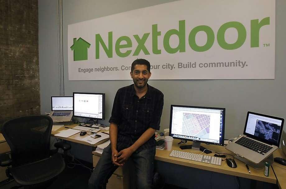 Prakash Janakiraman is a co-founder of Nextdoor, which says it's the new kid on the block in 8,000 neighborhoods. Photo: Siana Hristova, The Chronicle