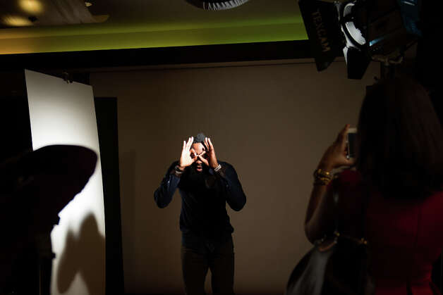James Harden poses for an NBA Entertainment photo shoot. Photo: Smiley N. Pool, Houston Chronicle / © 2013  Houston Chronicle