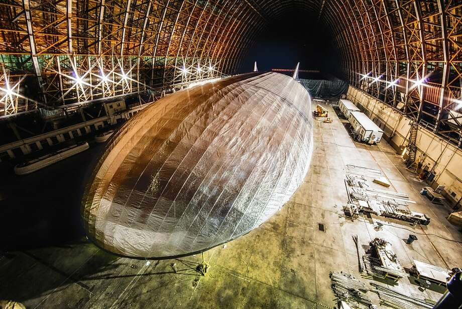 A 500-foot dirigible being built with new lighter materials by Aeros Corp. will be able to carry 66 tons of cargo at half the cost of a Boeing 747. Photo: Worldwide Aeros