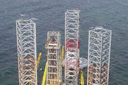 The Rowan Cecil Provine rig is moving to a location in the Gulf of Mexico about 50 miles east of Venice, La., in case it's needed to drill a relief well after workers on an Apache Corp. well had to activate its blowout preventer.