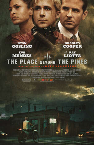"The Trustco bank branch at the corner of State Street and Brandywine Avenue in Schenectady is being immortalized across the country at the bottom of movie poster for ""The Place Beyond the Pines,"" the Ryan Gosling/Bradley Cooper movie shot in Schenectady last year."