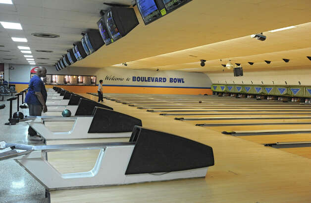 Interior of the Boulevard Bowl bowling alley in Schenectady, N.Y. Tuesday, Sept. 27, 2011. (Lori Van Buren / Times Union) Photo: Lori Van Buren / 00014781A