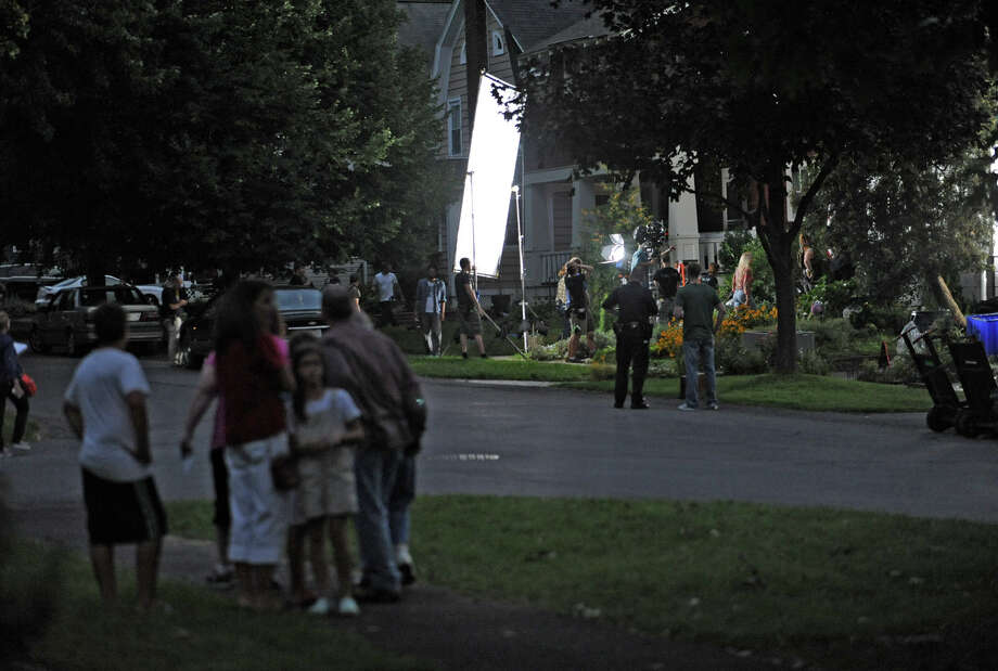 "Filming of the movie ""The Place Beyond the Pines"" takes place in a home on Story Ave. in Niskayuna, N.Y. on Wednesday, Aug. 31, 2011.  (Lori Van Buren / Times Union) Photo: Lori Van Buren"