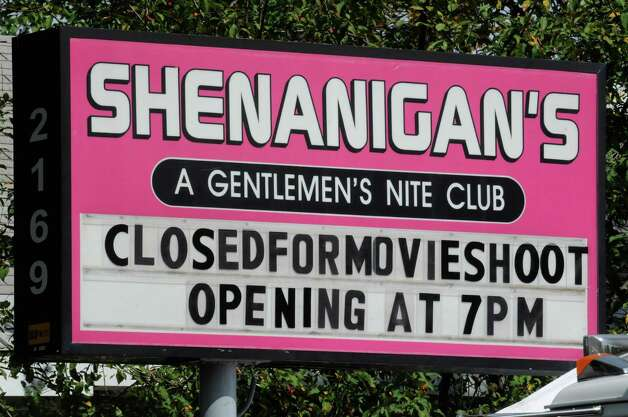 "The movie ""Place Beyond the Pines""  being filmed at Shenanigans Gentalmrn's Club in Colonie ,NY Wednesday Aug. 24,2011.( Michael P. Farrell/Times Union) Photo: Michael P. Farrell / 00014401A"