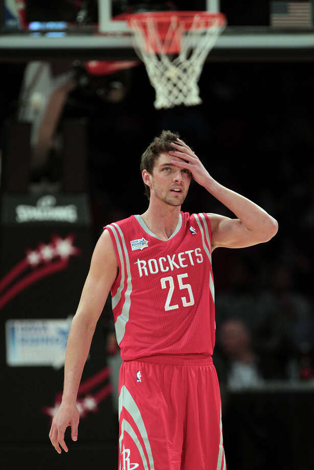 Chandler Parsons of the Rockets reacts after giving up a basket. Photo: James Nielsen, Chronicle / © Houston Chronicle 2013