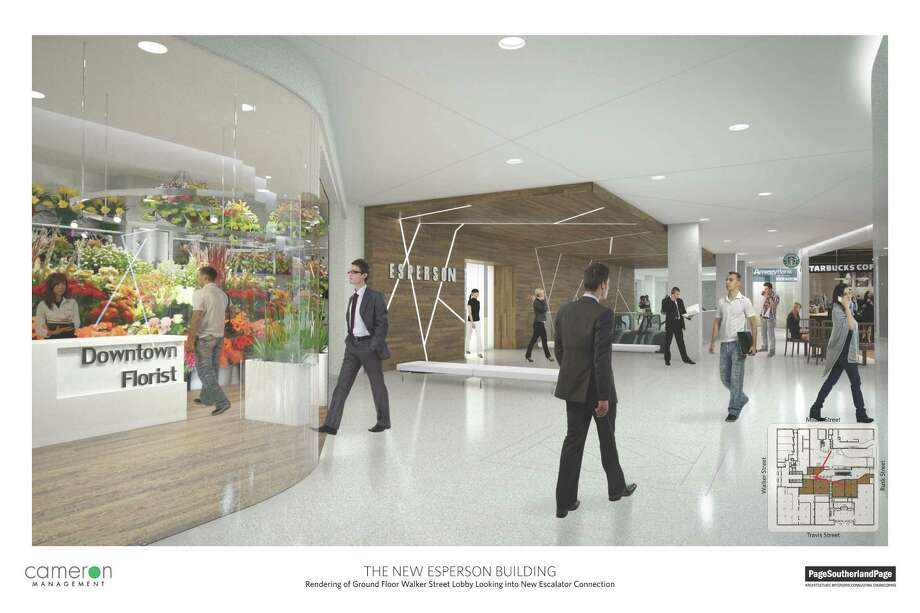 A rendering shows changes being considered for the historic Esperson buildings. Photo: PageSoutherlandPage