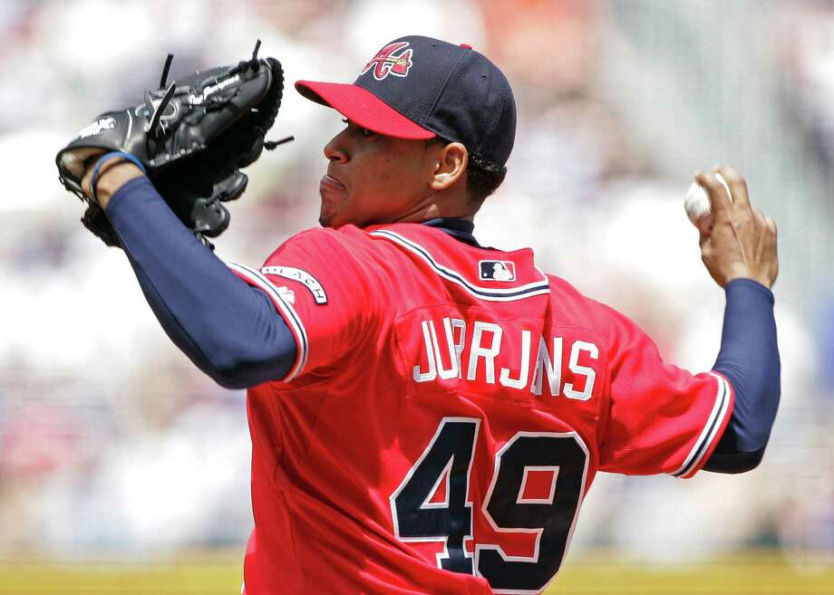 After five seasons with the Braves, starter Jair Jurrjens has caught on with the Orioles after being sent to the minors by Atlanta last season. Photo: John Bazemore, STF / AP
