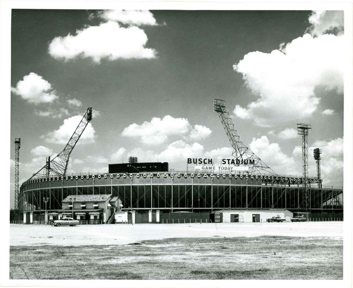Busch Stadium; May 28, 1956 Photographer: Pete Vazquez / Houston Post