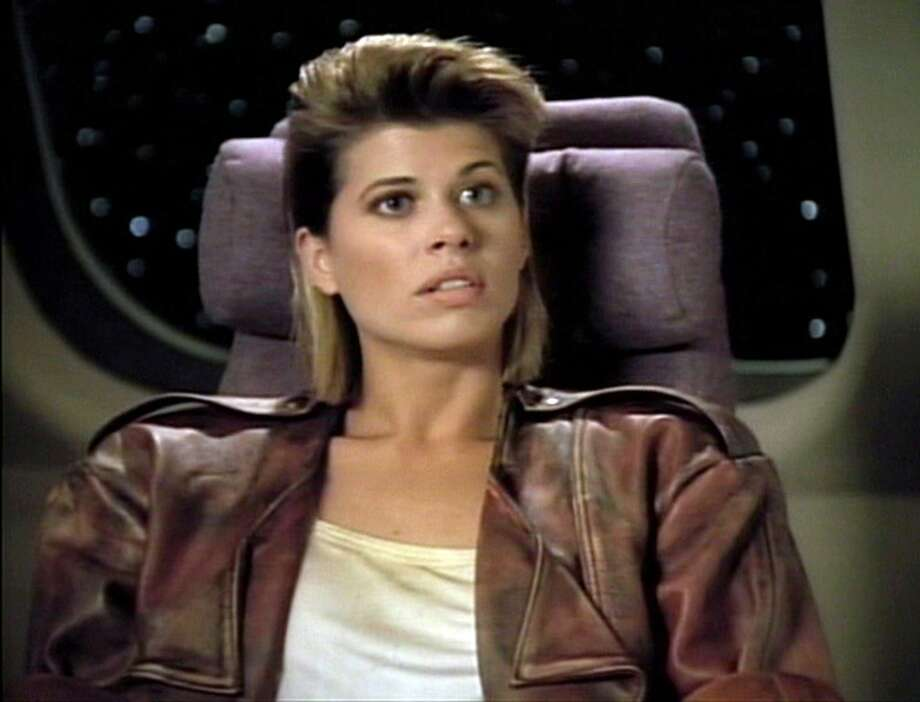 Beth Toussaint in 1990, as Ishara Yar in ''Star Trek: The Next Generation.''