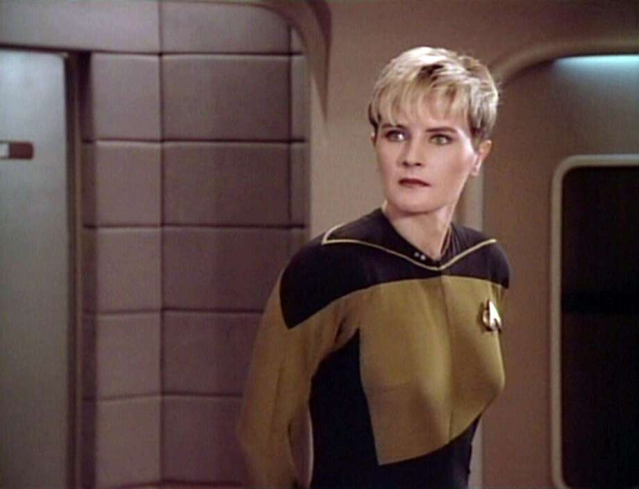 Denise Crosby as Lt. Tasha Yar in a 1988 episode of ''Star Trek: The Next Generation.''