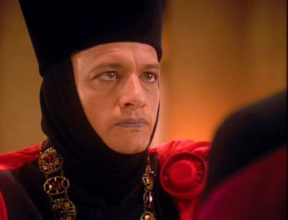 Here's John de Lancie as ''Q'' in the final episode of TNG, which aired May 23, 1994.