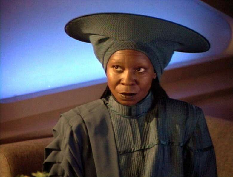 Whoopi Goldberg as Guinan in the 1992 episode ''I, Borg.''