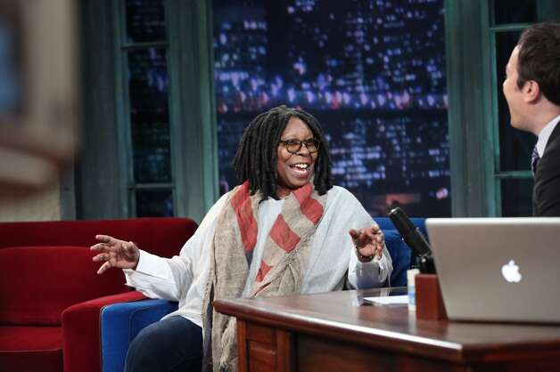 Whoopi Goldberg on Feb. 6, 2013 with Jimmy Fallon.