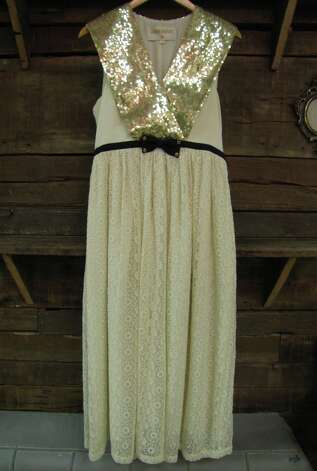 Lauren Moffatt sequin sash dress, $424, Posh, Beaumont