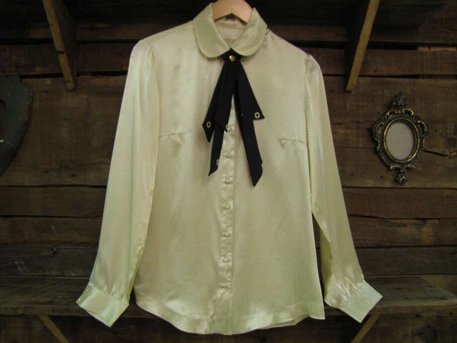 Lauren Moffatt button-up blouse, $289, Posh, Beaumont