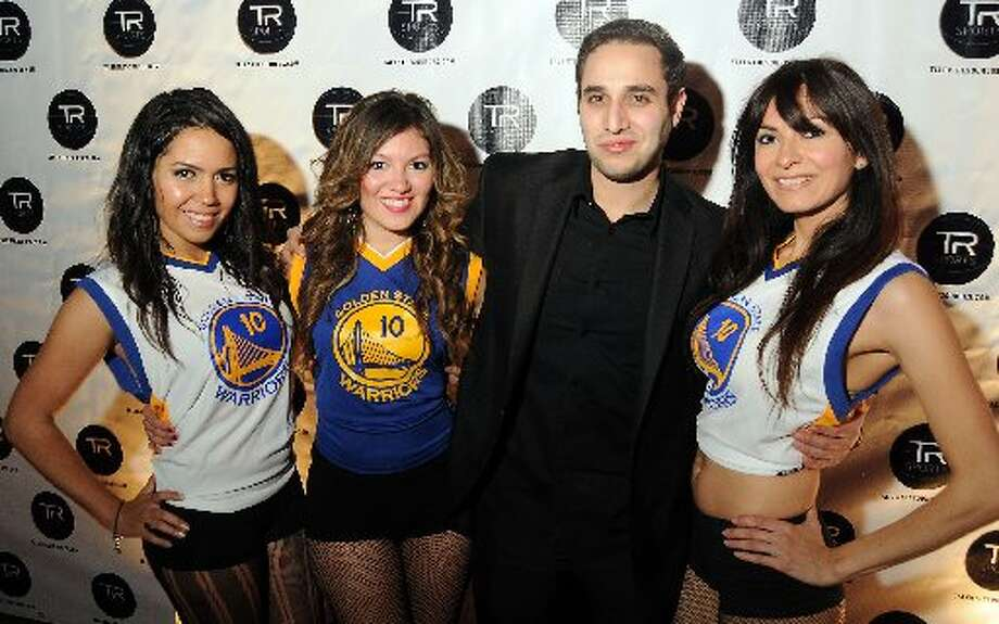 Nathalie Drew, Nery Reyes, Jeremy Lieberman and Veronica Smith at a party hosted by Golden State Warrior David Lee at the Hudson Lounge