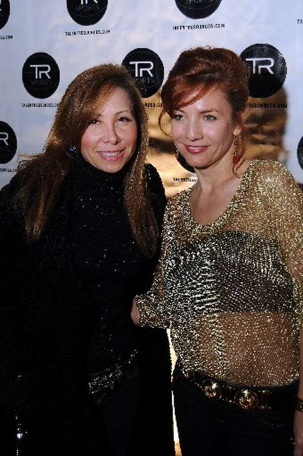 Cindy Zatorski and Natalla Fields at a party hosted by Golden State Warrior David Lee at the Hudson Lounge .