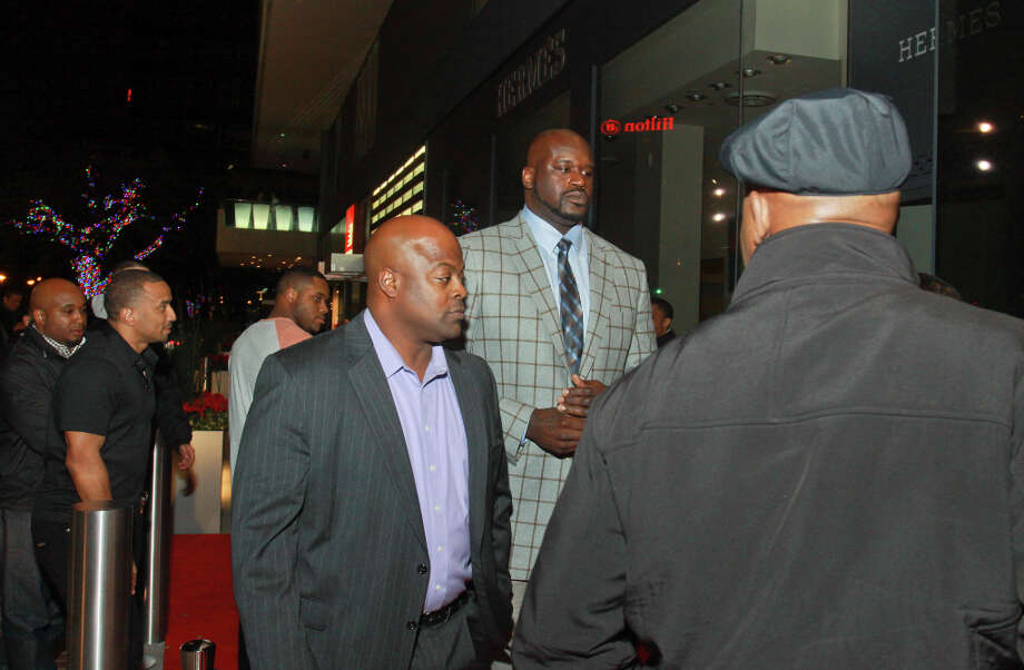 Shaquille O'Neal arriving at the NBA All-Star party he is hosting at Philippe Restaurant. Photo: Gary Fountain, For The Chronicle / Copyright 2013 Gary Fountain.