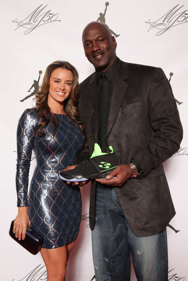 IMAGE DISTRIBUTED FOR JORDAN BRAND - Michael Jordan and his fiance, Yvette, are seen at the Jordan Brand party celebrating his birthday on Friday, February 15, 2013 in Houston, TX.  The Jordan Brand launched its Air Jordan XX8 in Houston on the same day.  (Photo by Omar Vega/Invision for Jordan Brand/AP Images) Photo: Omar Vega, Associated Press / Invision