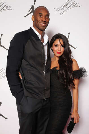 IMAGE DISTRIBUTED FOR JORDAN BRAND - Kobe and Vanessa Bryant are seen at the Jordan Brand party celebrating Michael Jordan's birthday on Friday, February 15, 2013 in Houston, TX.  The Jordan Brand launched its Air Jordan XX8 in Houston on the same day.  (Photo by Omar Vega/Invision for Jordan Brand/AP Images) Photo: Omar Vega, Associated Press / Invision