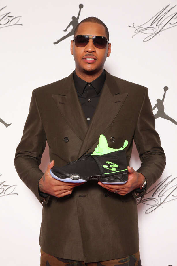 IMAGE DISTRIBUTED FOR JORDAN BRAND - Jordan Brand athlete, Carmelo Anthony, is seen at the Jordan Brand party celebrating Michael Jordan's birthday on Friday, February 15, 2013 in Houston, TX.  The Jordan Brand launched its Air Jordan XX8 in Houston on the same day.  (Photo by Omar Vega/Invision for Jordan Brand/AP Images) Photo: Omar Vega, Associated Press / Invision