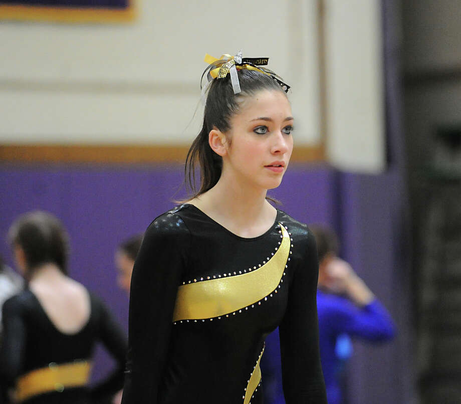 The 2013 FCIAC Girls Gymnastics Championships at Westhill High School in Stamford, Saturday, Feb. 16, 2013. Photo: Bob Luckey / Greenwich Time