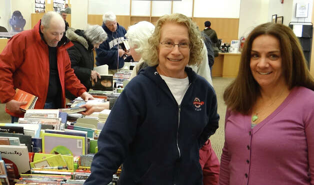 The Fairfield Public Library's President's Day Book Sale, coordinated by Dee Skott and Missy Hill, runs through Friday, Feb. 22, at the library's main branch, corner of Old Post and Post roads.  FAIRFIELD CITIZEN, CT 2/16/13 Photo: Mike Lauterborn / Fairfield Citizen contributed