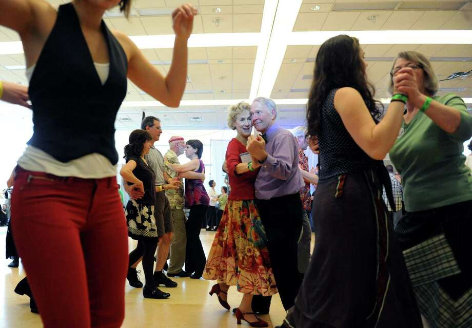 Couples dance to the sounds of The Revelers during a Cajun dance party as part of Dance Flurry on Saturday Feb. 16, 2013 in Saratoga Springs, N.Y. .(Michael P. Farrell/Times Union) Photo: Michael P. Farrell