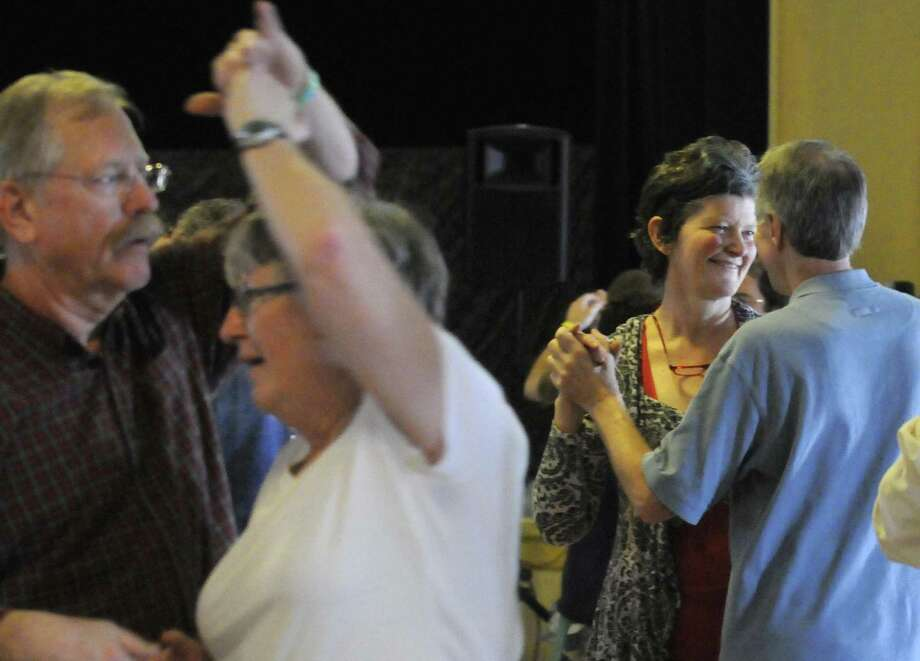 Couples dance Catskill mountain waltzes as Ungar & Mason play as part of Dance Flurry on Saturday Feb. 16, 2013 in Saratoga Springs, N.Y. .(Michael P. Farrell/Times Union) Photo: Michael P. Farrell