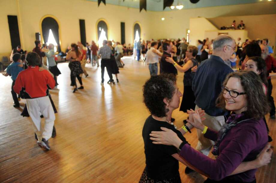 Couples dance Catskill mountain waltzes as Ungar & Mason play during Dance Flurry on Saturday Feb. 16, 2013 in Saratoga Springs, N.Y. .(Michael P. Farrell/Times Union) Photo: Michael P. Farrell