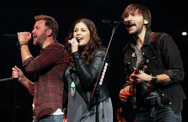Charles Kelley (from left), Hillary Scott and Dave Haywood of Lady Antebellum perform at the San Antonio Stock Show and Rodeo on Saturday, Feb. 16, 2013. Photo: Kin Man Hui, San Antonio Express-News / © 2012 San Antonio Express-News
