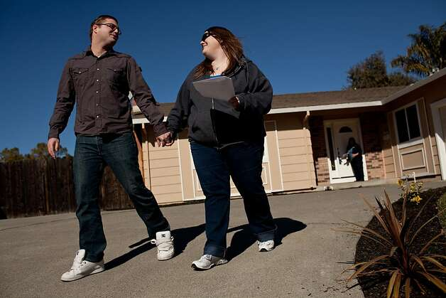 Brian and Kim Norden leave a house while shopping for their first home in Vacaville, where prices are rising. Photo: Max Whittaker/Prime, Special To The Chronicle