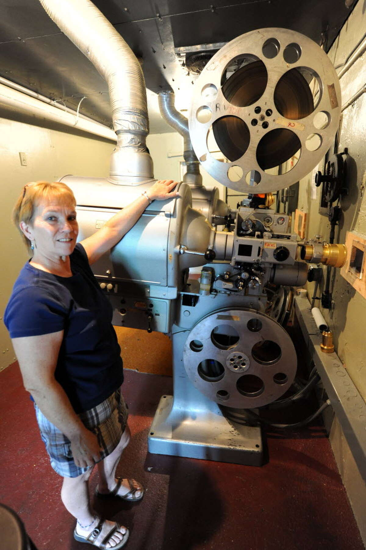 Nanci Hayes, owner of the Carol Theater in Chestertown, says the seasonal theater will not open this year, because she can not afford an upgrade to digital technology that would replace the old-fashioned film projector seen here. (Photo by Michael P. Farrell / Times Union)