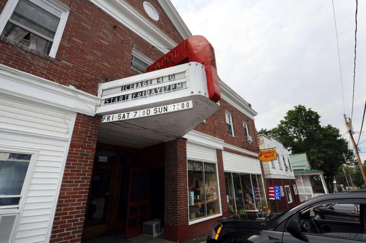 The Carol Theater in Chestertown will not open this year, because owner Nanci Hayes can't afford an upgrade to digital technology that would replace the cinema's old-fashioned film projector. Many small theaters are struggling with a change being forced by Hollywood studios. (Photo by Michael P. Farrell / Times Union)