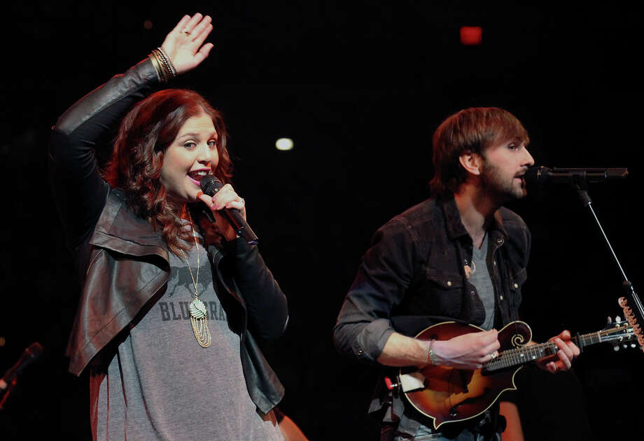 Hillary Scott (left) and Dave Haywood of Lady Antebellum perform at the San Antonio Stock Show and Rodeo on Saturday, Feb. 16, 2013. Photo: Kin Man Hui, San Antonio Express-News / © 2012 San Antonio Express-News