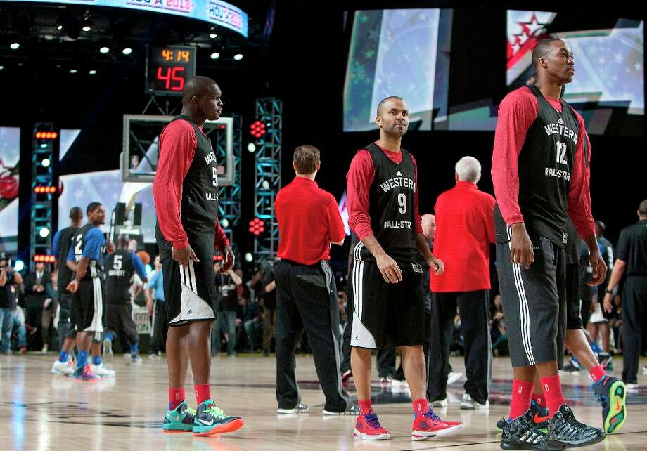 Members  during All-Star practice at the George R. Brown Convention Center, Saturday, Feb. 16, 2013, in Houston. Photo: Cody Duty / © 2013 Houston Chronicle