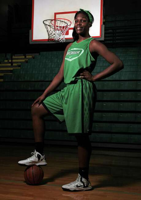 Teaira McCowan has been playing for only four years, but the 6-7 sophomore appears to be the next big find from the Houston-area talent pipeline. Photo: James Nielsen, Staff / © Houston Chronicle 2013