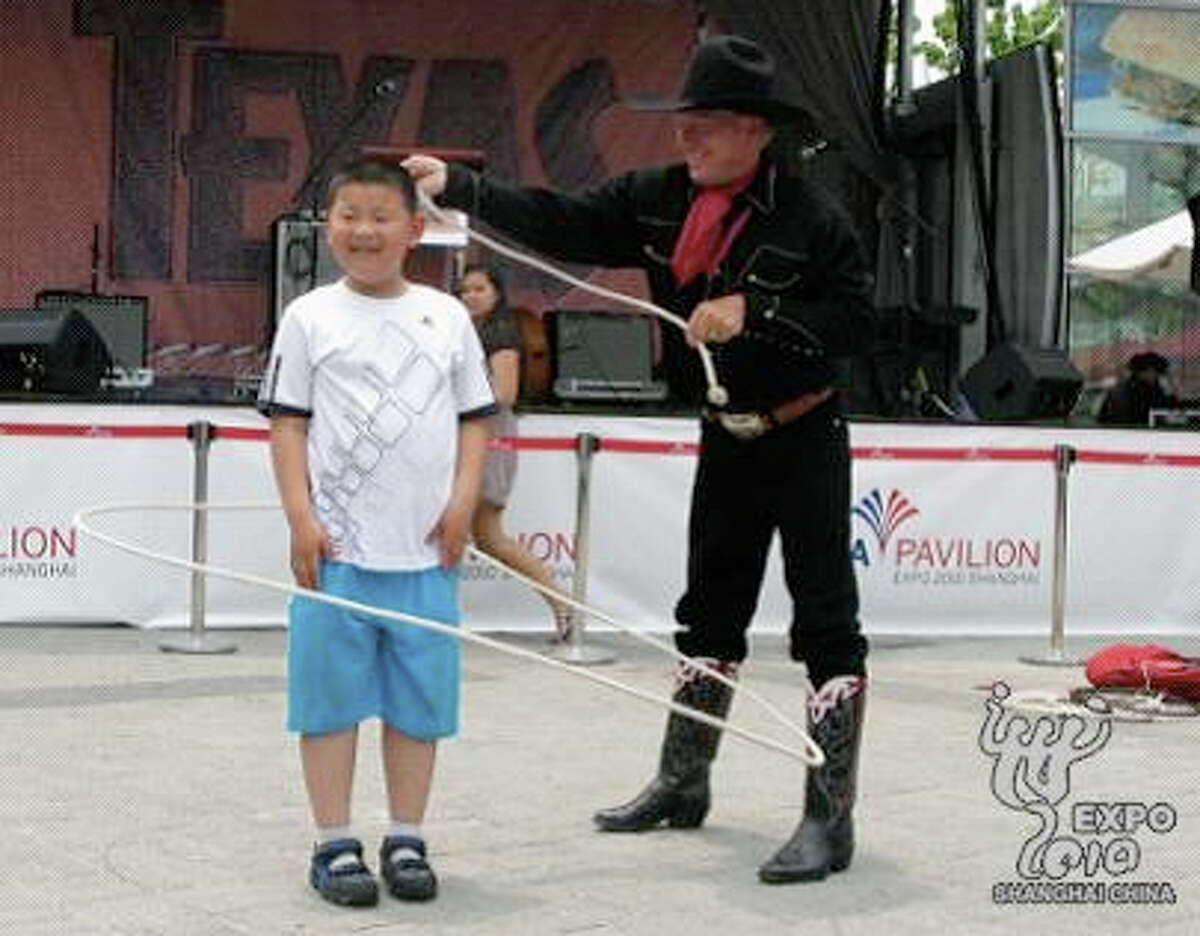 Gov. Perry gave a speech and a real Texas cowboy presented rope tricks during the 2010 World Expo in Shanghai. It was the most expensive trip funded by Perry's nonprofit TexasOne in the last three years - costing more than $500,000.