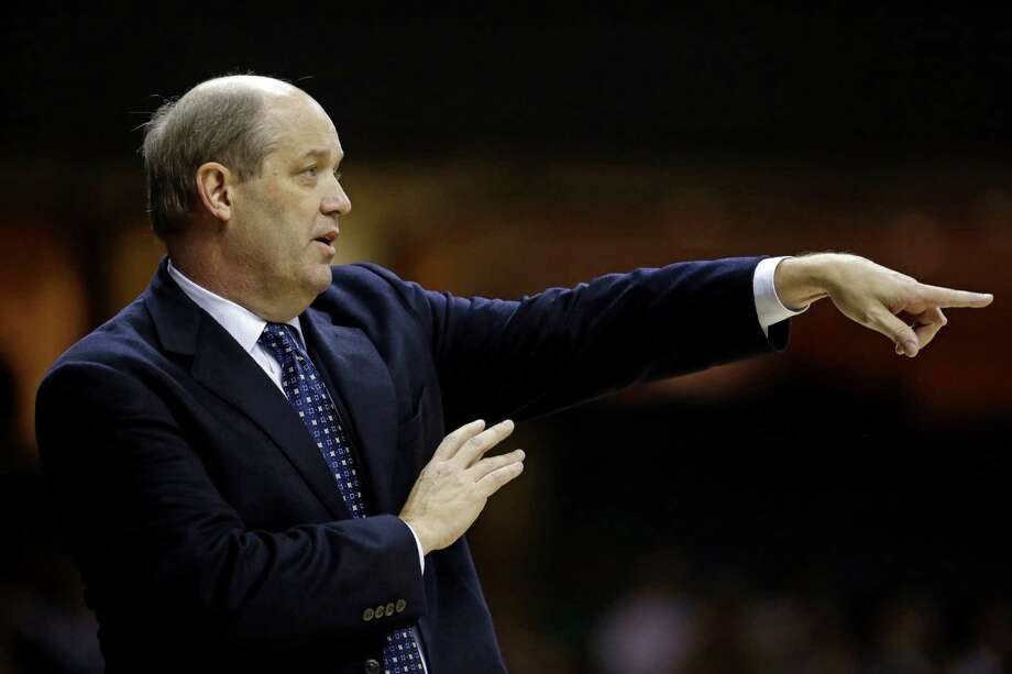 Vanderbilt head coach Kevin Stallings directs his players in the first half of an NCAA college basketball game against Texas A&M on Saturday, Feb. 16, 2013, in Nashville, Tenn. (AP Photo/Mark Humphrey) Photo: Mark Humphrey, Associated Press / AP