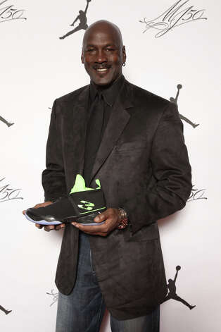 Michael Jordan is seen at the Jordan Brand party Friday, Feb. 15, 2013, to launch the Air Jordan XX8 in Houston. The party was in part to celebrate Jordan's 50th birthday on Sunday. Photo: Omar Vega, Associated Press / Invision