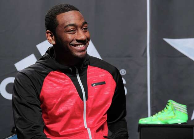 John Wall of the Washington Wizards speaks to media at the Adidas VIP suite during NBA All-Star weekend in Houston.(Photo by Noah Graham/NBAE via Getty Images) Photo: Kelly Kline, Kelly Kline/adidas / Kelly Kline