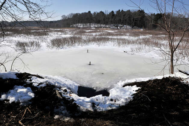 A view on Water Row in Wayland, Mass., Friday shows the location where Lauren Astley's body was found, after jurors in the Nathaniel Fujita murder trial toured the site. Fujita is accused of killing his ex-girlfriend, Lauren Astley in July 2011. Photo: AP