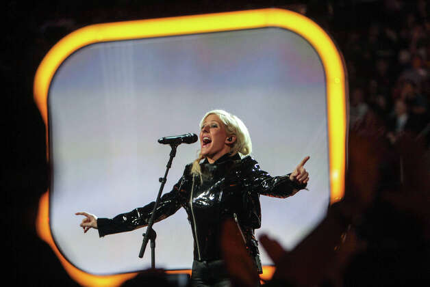 Ellie Goulding performs before NBA All-Star Shooting Stars competition. Photo: James Nielsen, Houston Chronicle / © 2013  Houston Chronicle