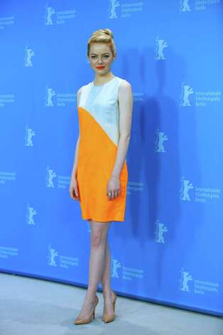 Actress Emma Stone pose for photographers at the photo call for the film The Croods at the 63rd edition of the Berlinale, International Film Festival in Berlin, Friday, Feb. 15, 2013. Photo: AP