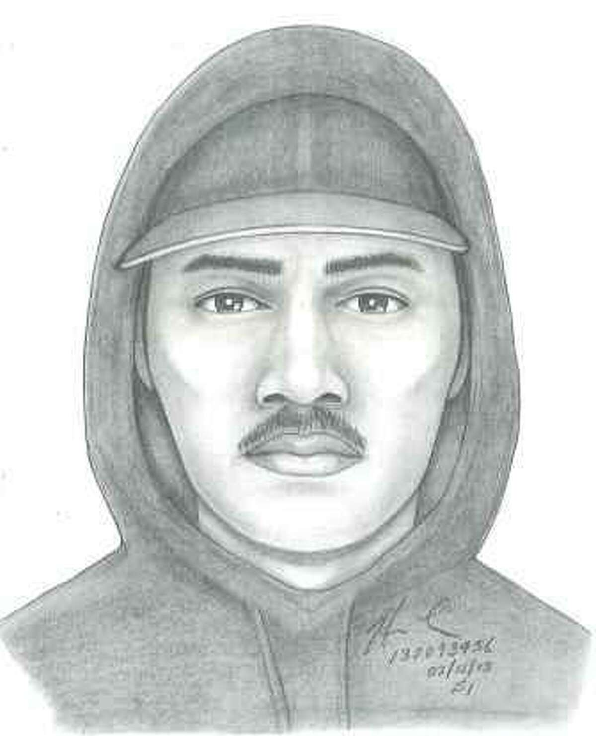 San Francisco police released this sketch of a man suspected in two apparently random Mission District assaults. (Courtesy / San Francisco Police Department)